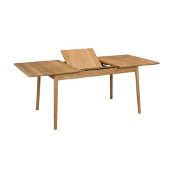 ZigZag table rect bf 140(53)x90cm oak oiled | Dining tables | Hans K