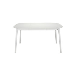 ZigZag table square 102(52)x102cm white | Dining tables | Hans K