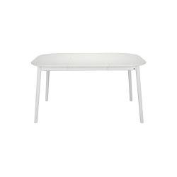 ZigZag table square 102(52)x102cm white | Mesas comedor | Hans K
