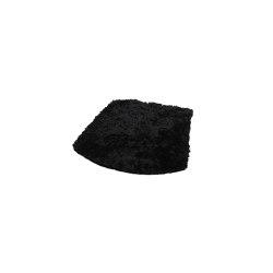 ZigZag cushion stool/barstool bonded leather black emb | Seat cushions | Hans K