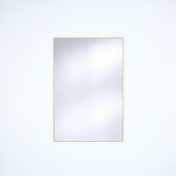 Lucka Frosted Gold Rectangle | Mirrors | Deknudt Mirrors