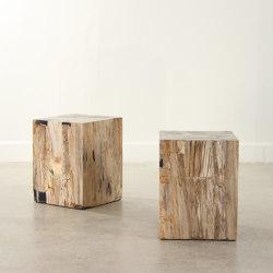 Genuine Petrified Wood Cube Table | Mesas auxiliares | Pfeifer Studio
