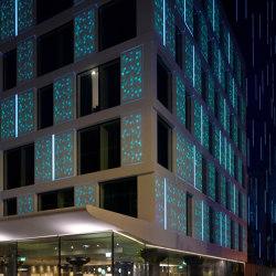 Corian®   Außenfassade Motel One London   Fassadensysteme   Rosskopf + Partner