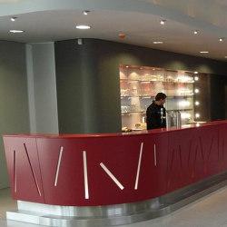 Silestone   Counter for Centre Atert in Bertrange   Counters   Rosskopf + Partner