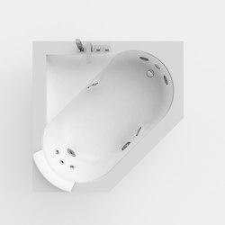 Aura Corner 140 Corian® | Whirlpools | Jacuzzi®
