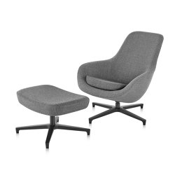 Saiba Lounge Chair and Ottoman | Armchairs | Herman Miller