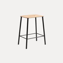 Adam stool H50 matt black | Stools | Frama