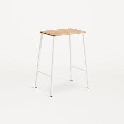 Adam stool H50 matt white | Stools | Frama