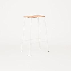 Adam stool H65 matt white | Bar stools | Frama