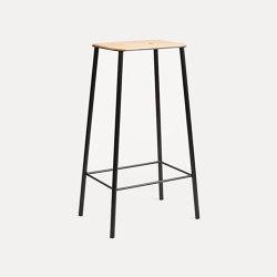 Adam stool H76 matt black | Bar stools | Frama