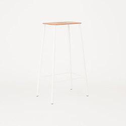 Adam stool H76 matt white | Bar stools | Frama