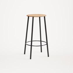 Adam stool R031 round H65 matt black | Bar stools | Frama