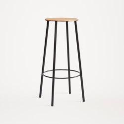 Adam stool R031 round H76 matt black | Bar stools | Frama