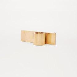 Fundament Brass Edition | Kerzenständer / Kerzenhalter | Frama