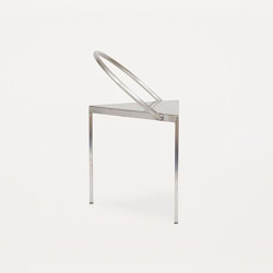 Triangolo Chair Stainless Steel | Chairs | Frama