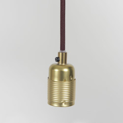 E27 pendant Brass / Grey Cable | Suspended lights | Frama