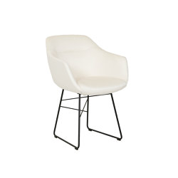 Cara with armrest and steel wire frame | Chairs | Bielefelder Werkstaetten