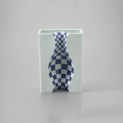 Illusion vase L Blue decor   Vases   HANDS ON DESIGN