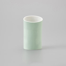 Naname Vase B - Green | Vases | HANDS ON DESIGN