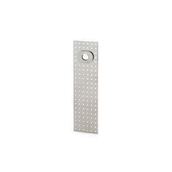 Stardust Perforated rectangular Plate | Handle backplates | Vervloet