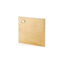 Stardust Perforated square Plate   Handle backplates   Vervloet