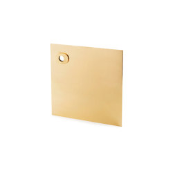 Stardust Smooth square Plate   Handle backplates   Vervloet