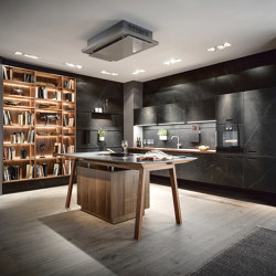NX 960 Ceramic marble nero effect | Fitted kitchens | next125