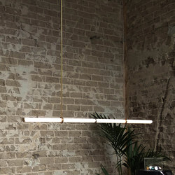 Light Object 015 - LED light, ceiling, natural brass finish | Suspended lights | Naama Hofman Light Objects