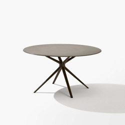 Moai round table with stone top | Dining tables | Fast
