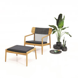 Archi Lounge Chair with Ottoman | Sessel | Gloster Furniture GmbH