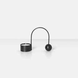Balance Tealight Holder - Black | Candelabros | ferm LIVING