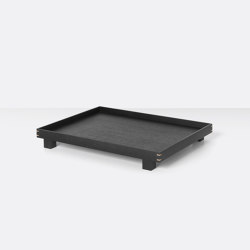 Bon wooden Tray large - Black Stained Oak | Trays | ferm LIVING
