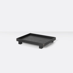 Bon wooden Tray small - Black Stained Oak | Bandejas | ferm LIVING