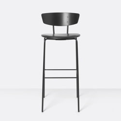 Herman Bar Chair High upholstered - Leather | Bar stools | ferm LIVING
