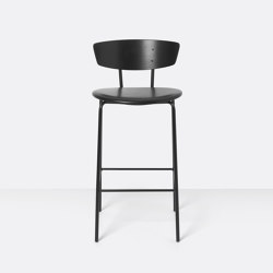 Herman Bar Chair Low upholstered - Leather | Bar stools | ferm LIVING