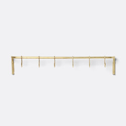 Kitchen rod - Brass | Percheros de ganchos | ferm LIVING