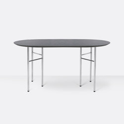 Mingle Oval Table Top - 150cm – Black Veneer | Dining tables | ferm LIVING