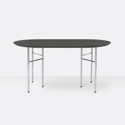 Mingle Oval Table Top - 150cm – Charcoal | Dining tables | ferm LIVING