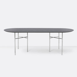 Mingle Oval Table Top - 220cm – Black Veneer | Dining tables | ferm LIVING