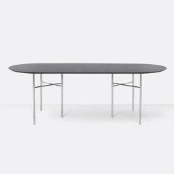 Mingle Oval Table Top - 220cm – Black Veneer | Tavoli pranzo | ferm LIVING