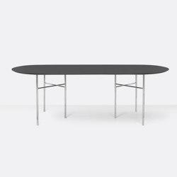 Mingle Oval Table Top - 220cm – Charcoal | Tavoli pranzo | ferm LIVING