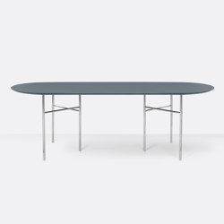 Mingle Oval Table Top - 220cm – Dusty Blue | Dining tables | ferm LIVING