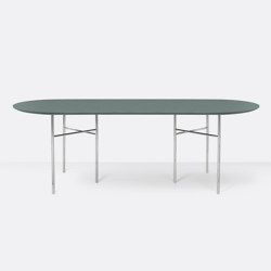 Mingle Oval Table Top - 220cm – Green | Dining tables | ferm LIVING