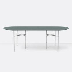 Mingle Oval Table Top - 220cm – Green | Tables de repas | ferm LIVING