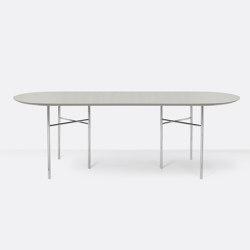 Mingle Oval Table Top - 220cm – Light Grey | Tavoli pranzo | ferm LIVING