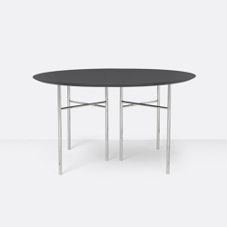 Mingle Round Table Top - Ø: 130cm –Charcoal   Dining tables   ferm LIVING