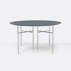 Mingle Round Table Top - Ø: 130cm – Dusty Blue   Dining tables   ferm LIVING
