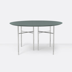 Mingle Round Table Top - Ø: 130cm – Green   Dining tables   ferm LIVING