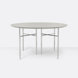 Mingle Round Table Top - Ø: 130cm – Light Grey | Dining tables | ferm LIVING