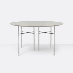 Mingle Round Table Top - Ø: 130cm – Light Grey | Tavoli pranzo | ferm LIVING